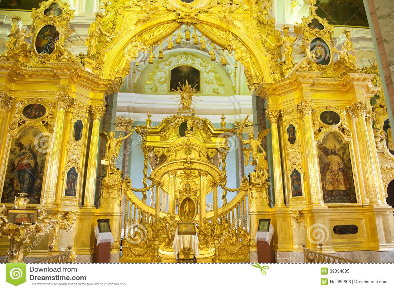 Altar Peter And Paul Cathedral, St. Petersburg Stock Photo.