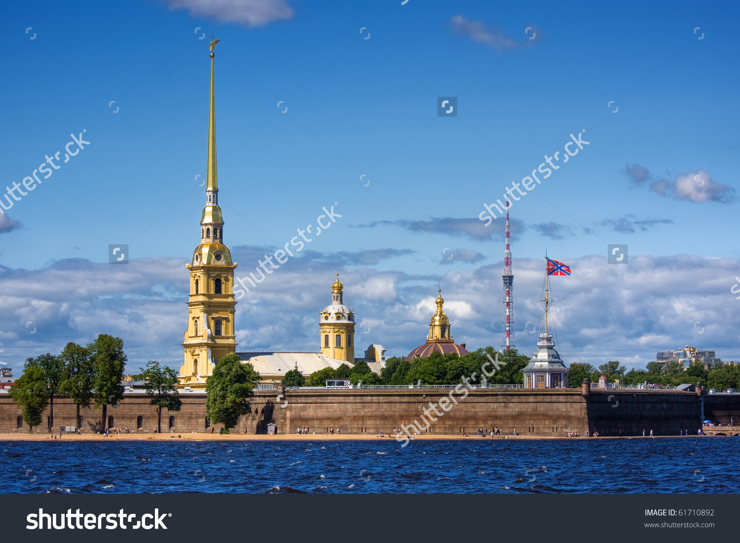 The Peter And Paul Fortress, St.Petersburg, Russia Stock Photo.