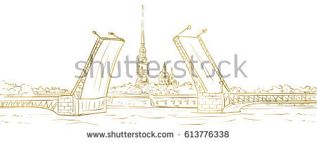 View Peter Paul Fortress Neva River Stock Vector 613547402.