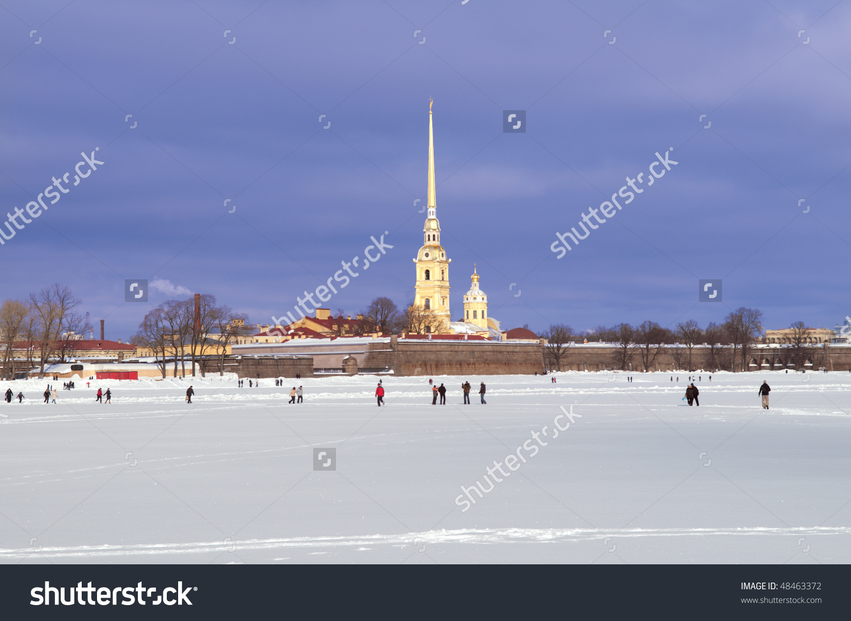 Peter Paul Fortress St Petersburg Winter Stock Photo 48463372.