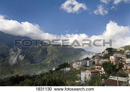 Stock Photography of The picturesque village of Sapa in northern.