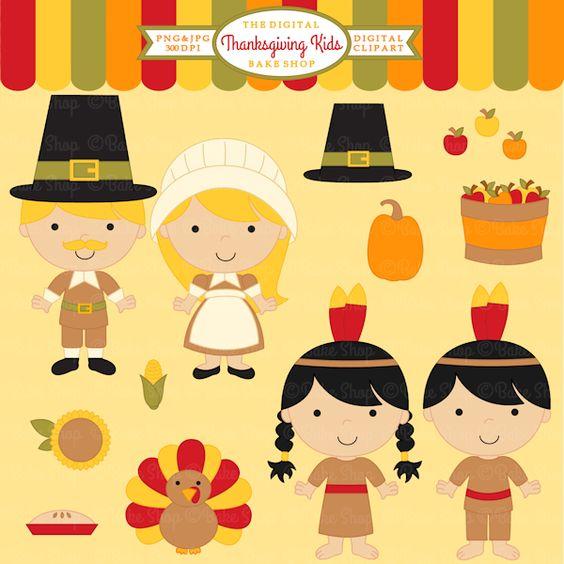 Thanksgiving Kids Clipart.