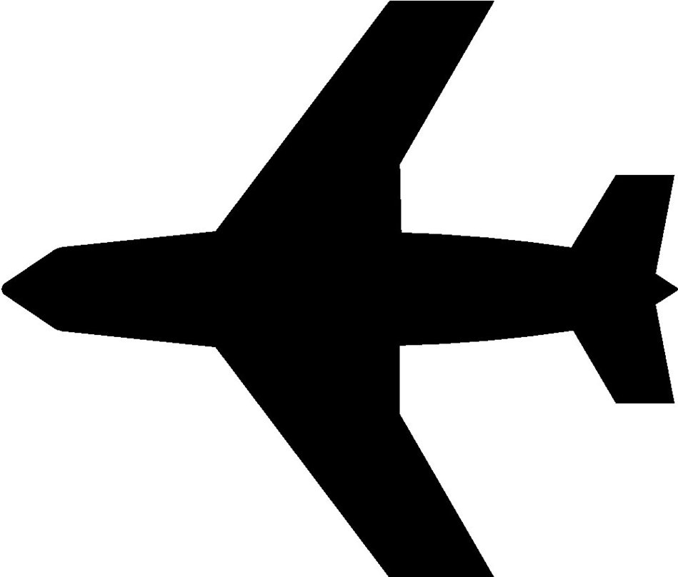Plane with bow clipart.