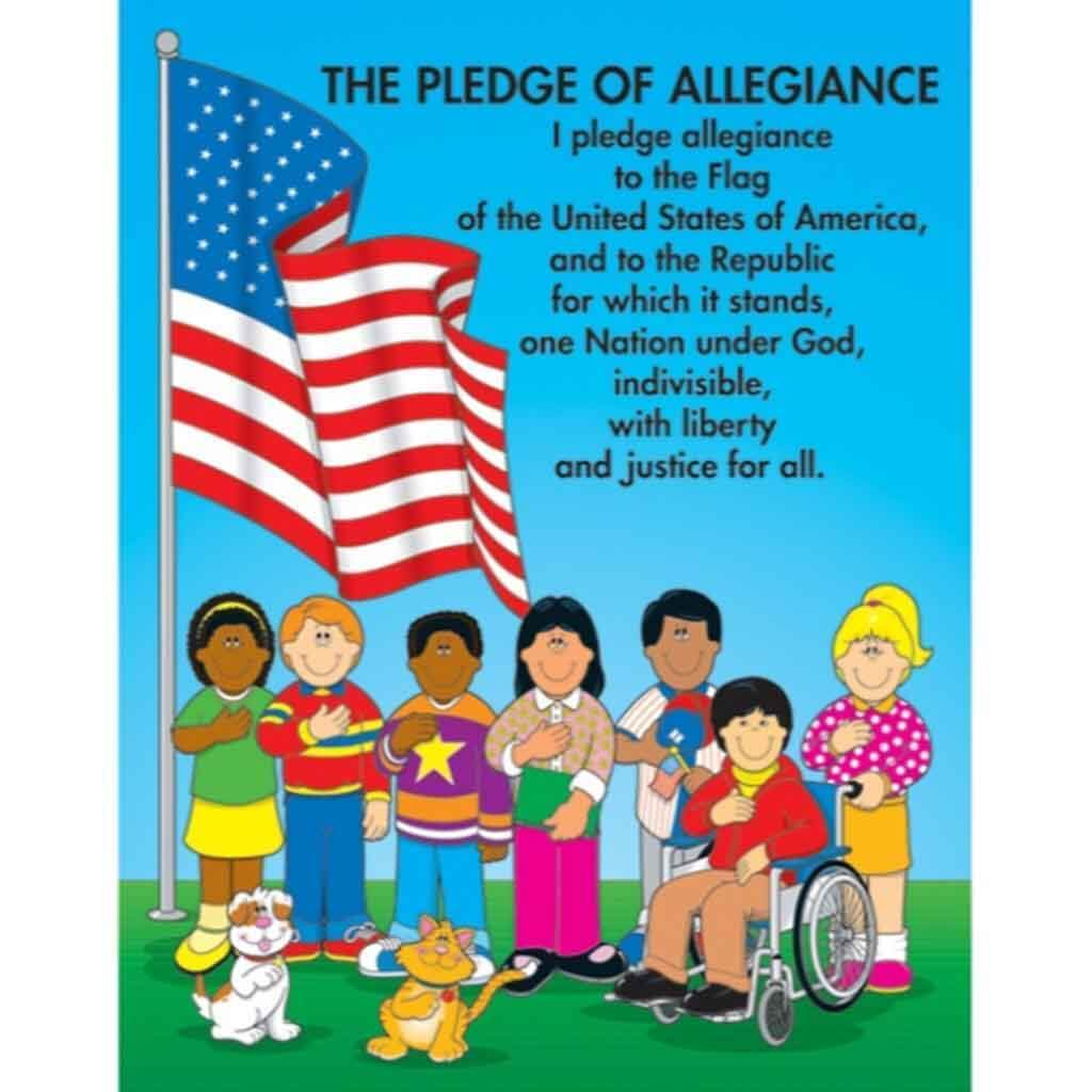 The Pledge Of Allegiance Carson Kids Chart.