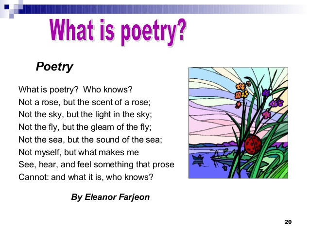 Poetry author's purpose and mood.