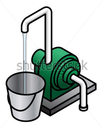 On demand water pump clipart.