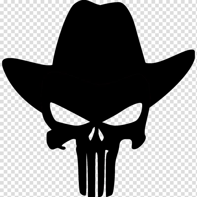 The Punisher logo, Punisher Human skull symbolism Stencil.