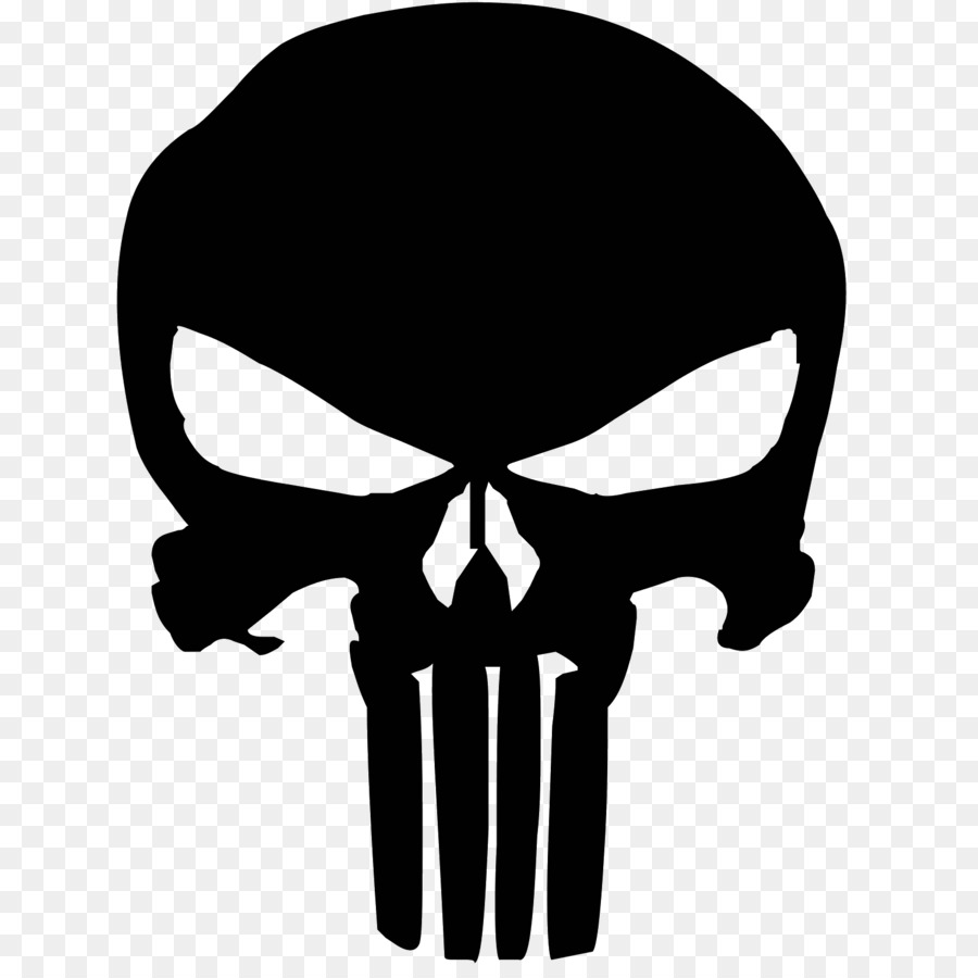 Download Free png The Punisher Decal skull png download 1600.