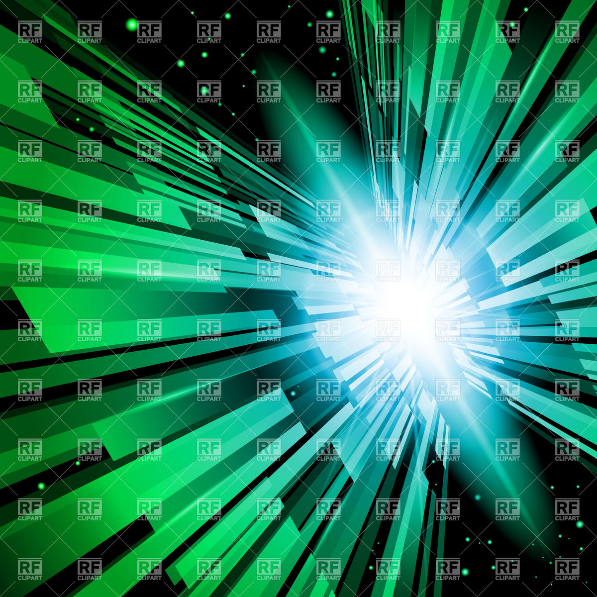 Abstract radiance, green flash and torrent Vector Image #8186.
