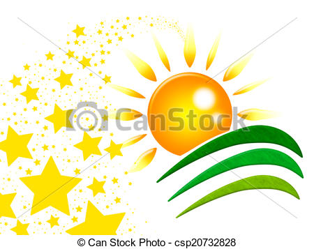 Clip Art of Sun Rays Shows Sunray Radiance And Twist.