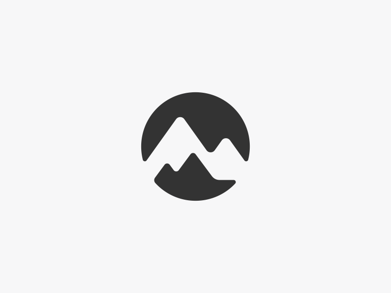 Mountain Range Logo Design by Dalius Stuoka.
