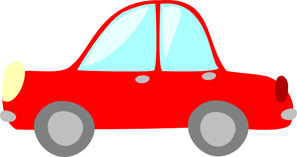 Little red car clipart.
