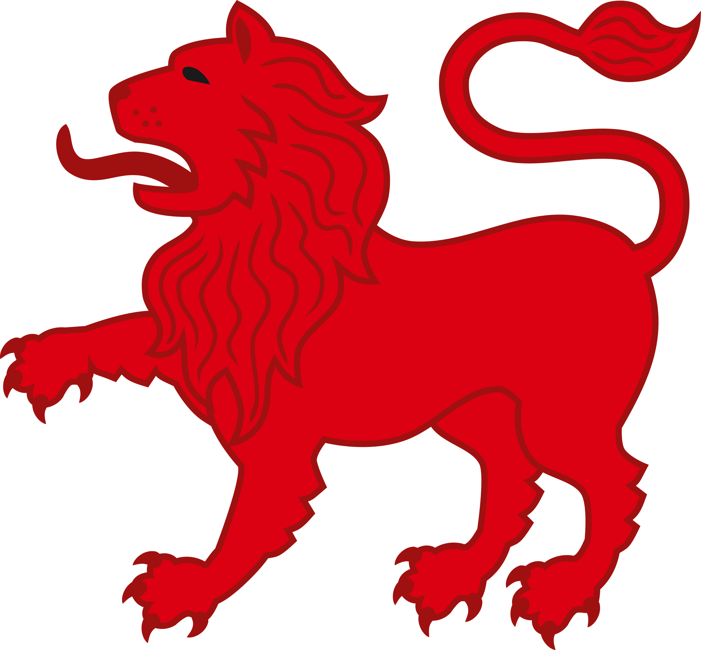 The red lion clipart #13