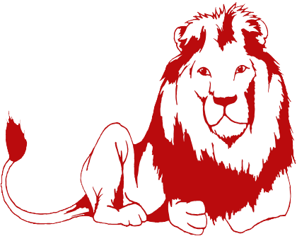 Red lion clipart.