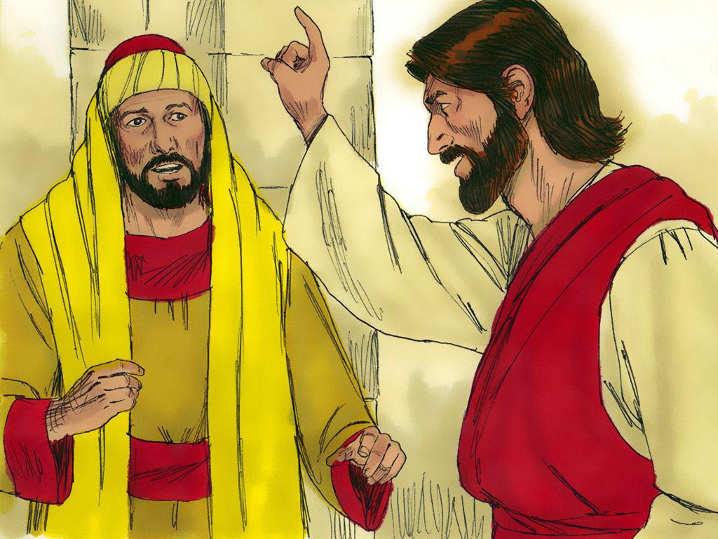 FreeBibleimages :: A rich man questions Jesus :: After a.