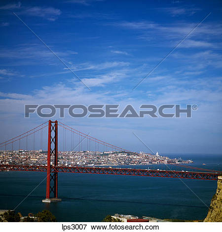 Picture of 15 Portugal Lisbon Ponte 25 De Abril Supension Bridge.
