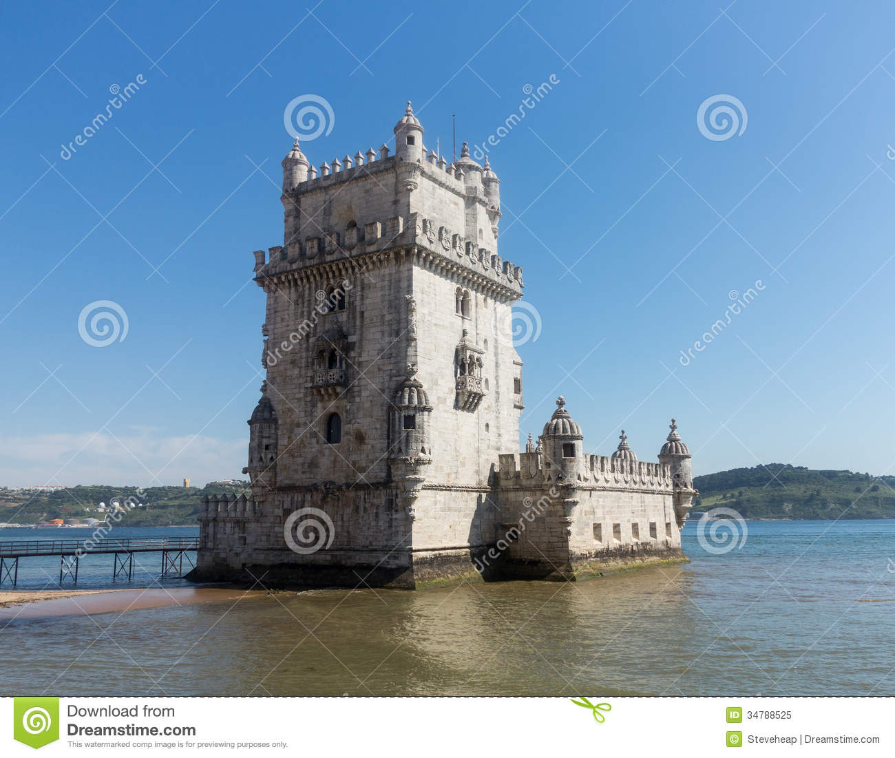 Belem Tower On River Tagus Near Lisbon Royalty Free Stock Photo.