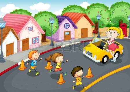 9,498 Children On The Road Stock Illustrations, Cliparts And.