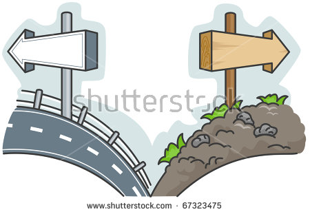 Road Less Travelled Stock Vectors & Vector Clip Art.