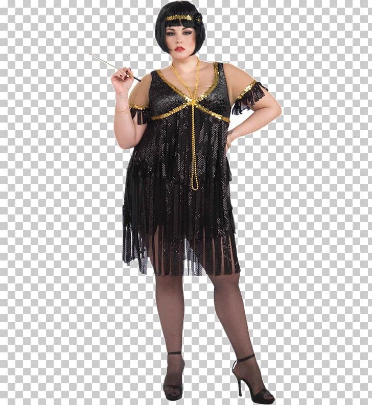 1920s Flapper Costume Dress Roaring Twenties, dress PNG.