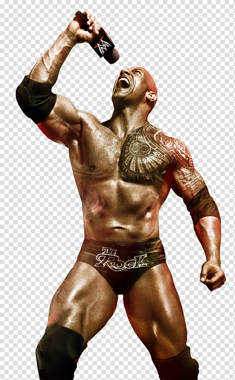 WWE K The Rock transparent background PNG clipart.