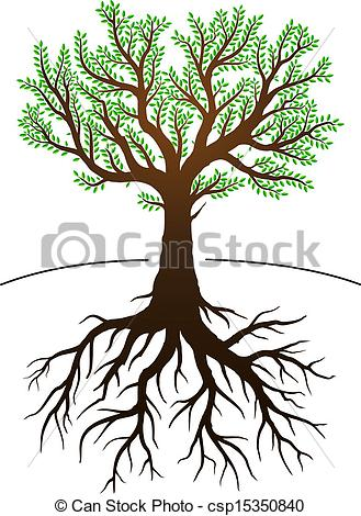 EPS Vector of Tree and it's roots.