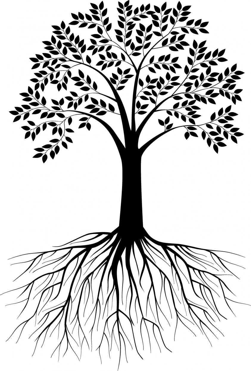Free Black And White Clipart Tree With Roots 20 Free Cliparts