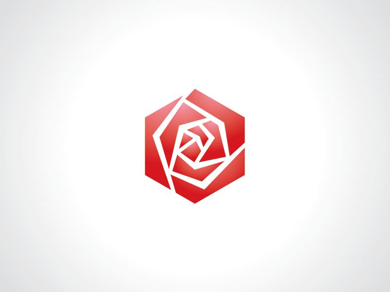 Hexagonal Rose Logo Template by Heavtryq on Dribbble.