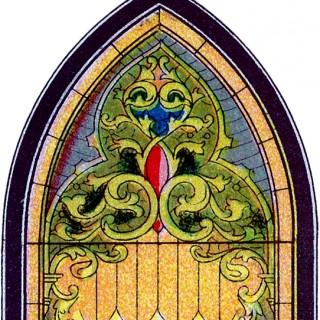 Round Church Window Clip Art.