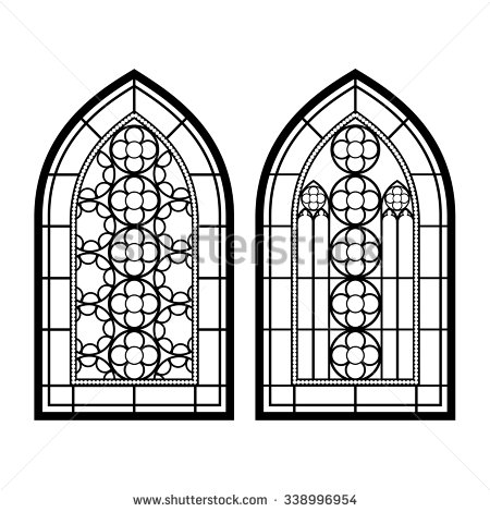 Round Church Window Clip Art.