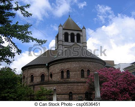 Stock Photography of round church.
