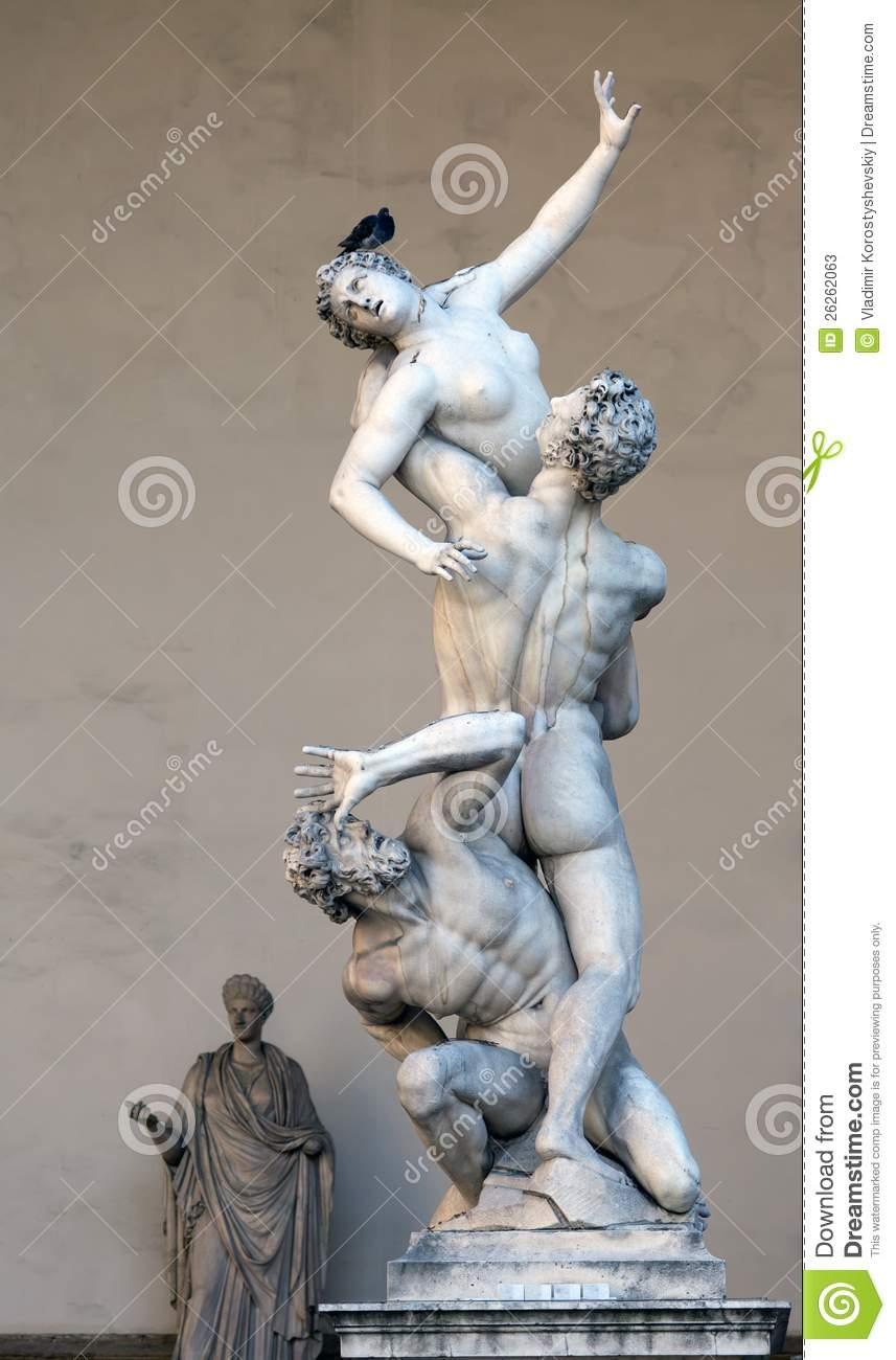 The Rape Of The Sabine Women By Giambologna Stock Photos.