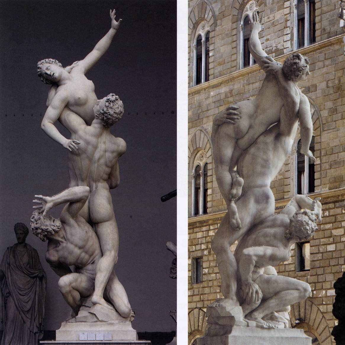 Abduction of the Sabine Women. Bologna. 1579.