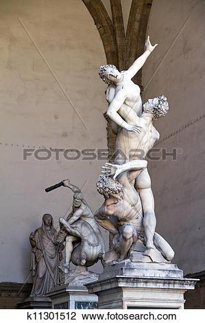 Stock Photo of The Rape of the Sabine Women k11301512.