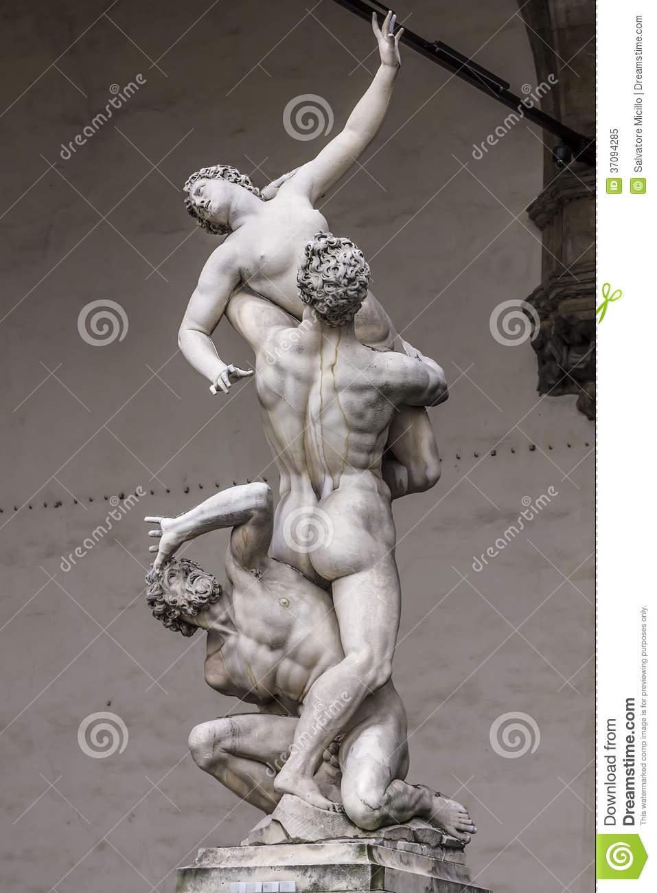 Rape Of The Sabine Women Royalty Free Stock Photo.