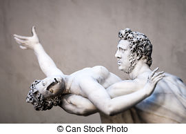 Stock Photography of The Rape of The Sabine Women by Giambologna.