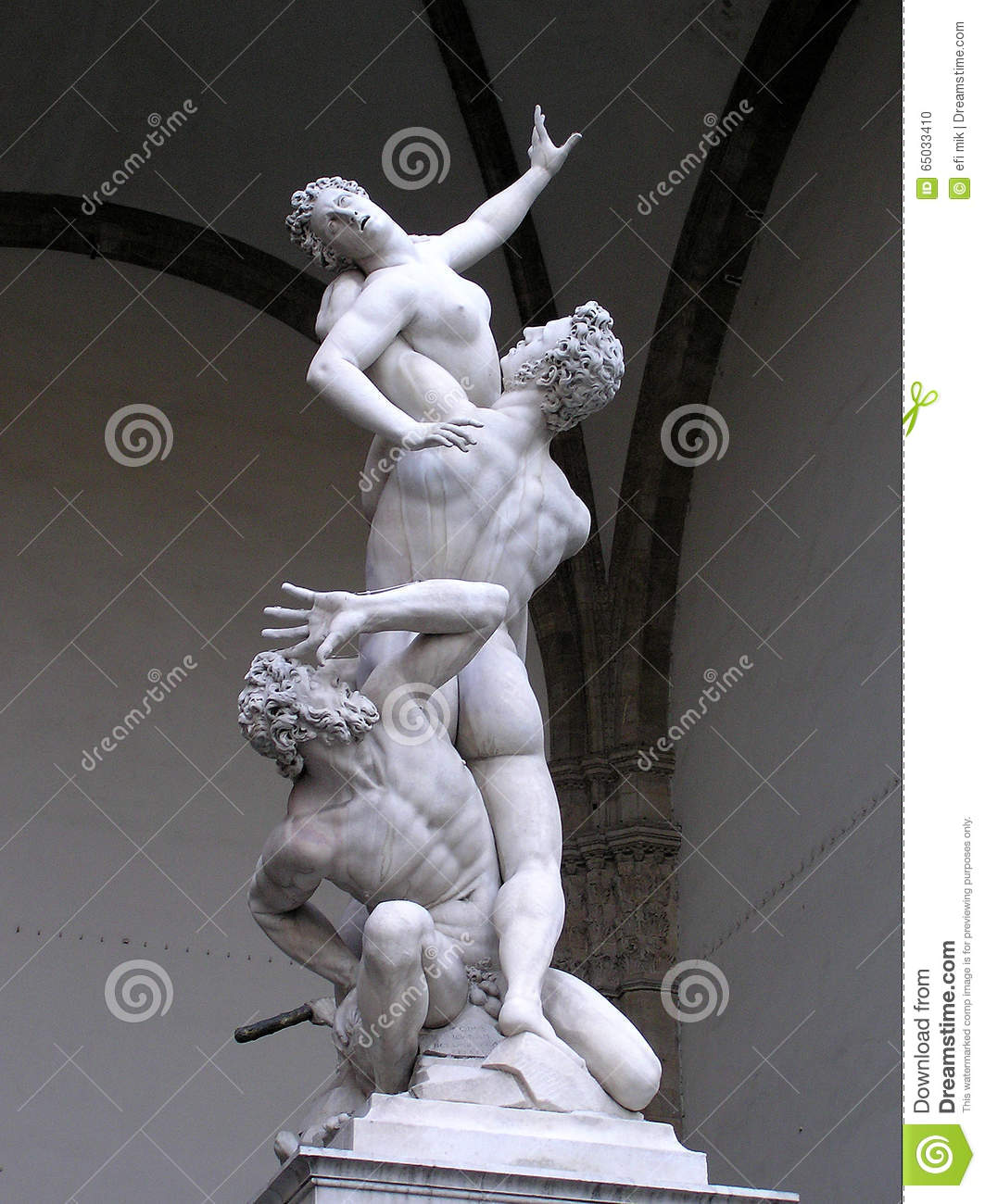 The Rape Of The Sabine Women Statue, Florence Stock Photo.
