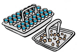 Sacrament trays clipart.
