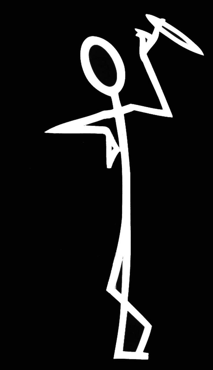 Saint stick figure Logos.