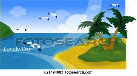 Summer Scenery Clipart.
