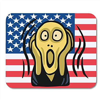 Amazon.com : Semtomn Gaming Mouse Pad Blue Scream Clipart of.