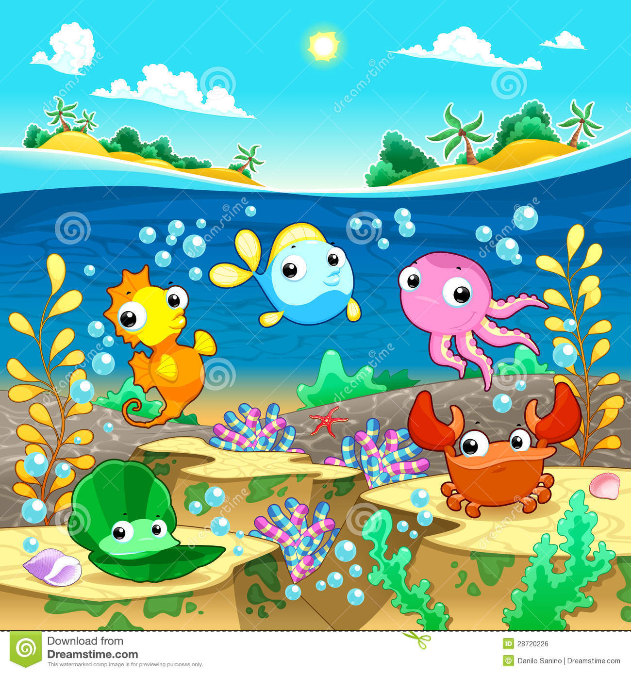 Free clipart under the sea.