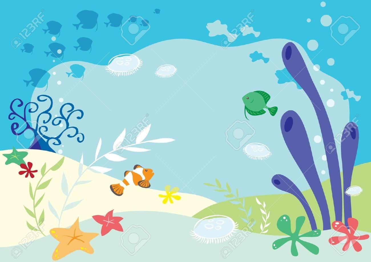 Under the sea border clip art.