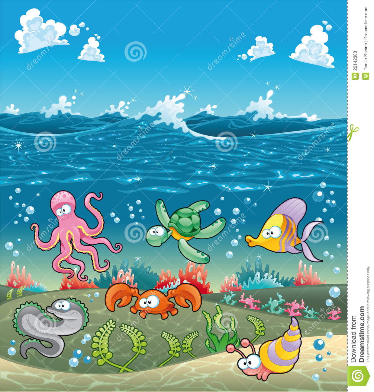 Clipart under the sea pictures.