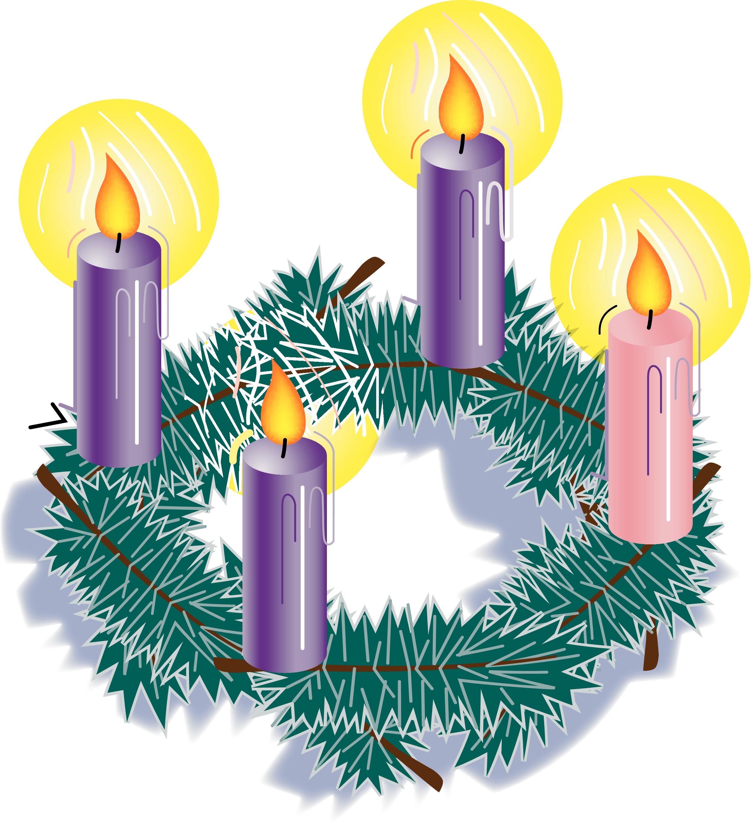 Animated Advent Wreath Clipart.