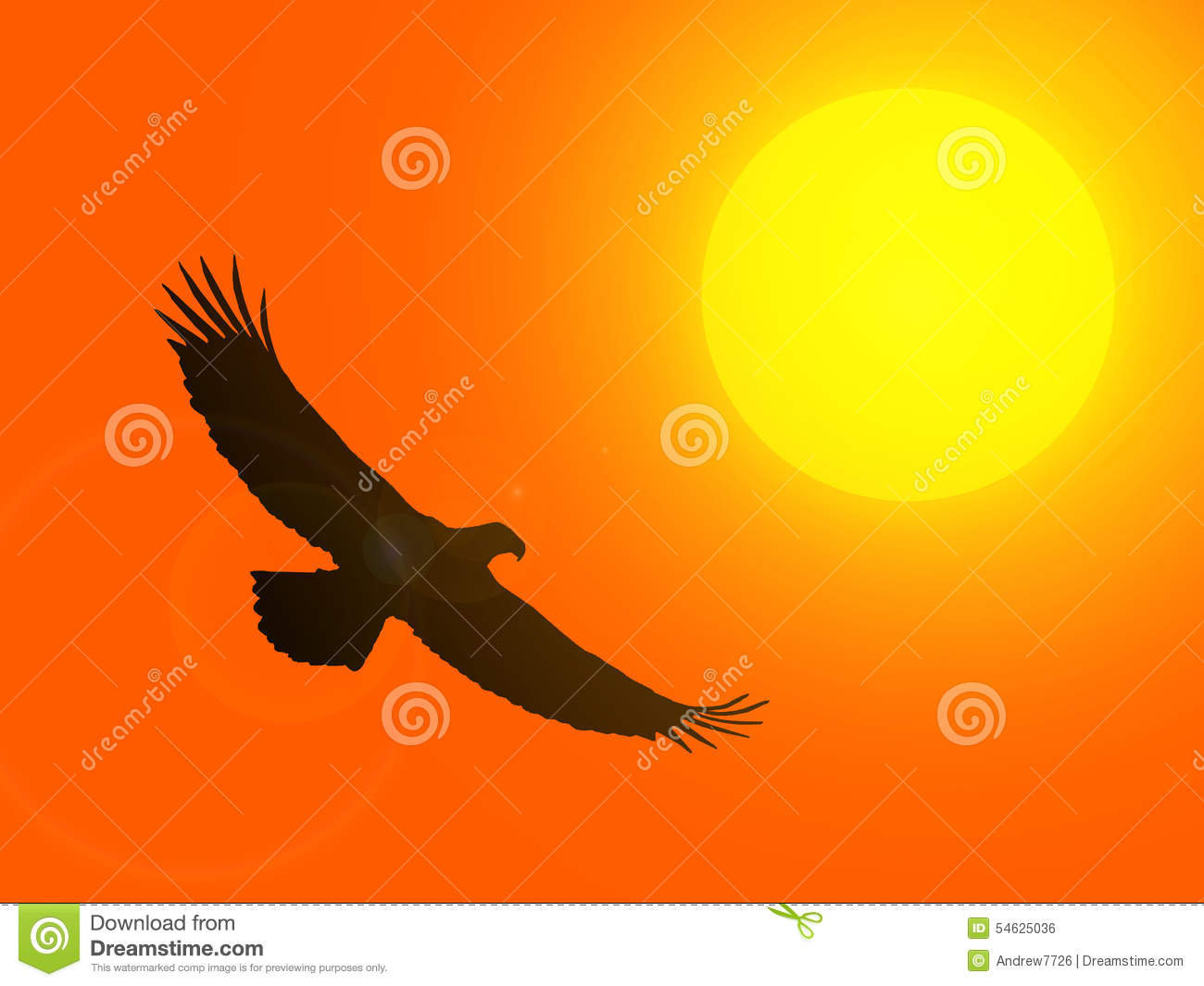 Setting Sun Graphic Clip Art Stock Images.