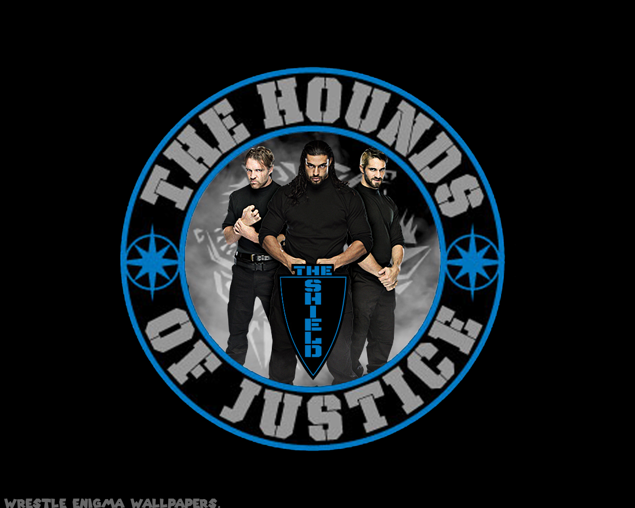 The shield wwe Logos.