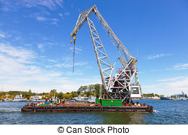 Stock Photographs of construction site ship lift.