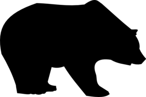 Black bear silhouette clip art.