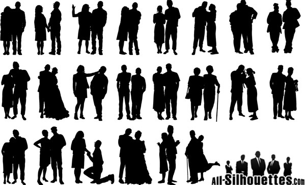 Couple silhouette free vector download (5,964 Free vector) for.